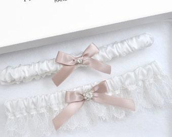 White Wedding Garter, Bridal Garter, Wedding Garter, Garter, Rhinestone Garter, White Garter, Blue Garter, Toss Garter, Plus Size Garter