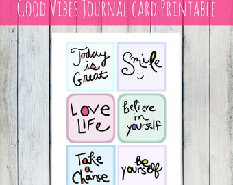 INSTANT DOWNLOAD Journal Cards printable art journal cards for journals, notebooks, diary, digital art, scrapbook, photo album