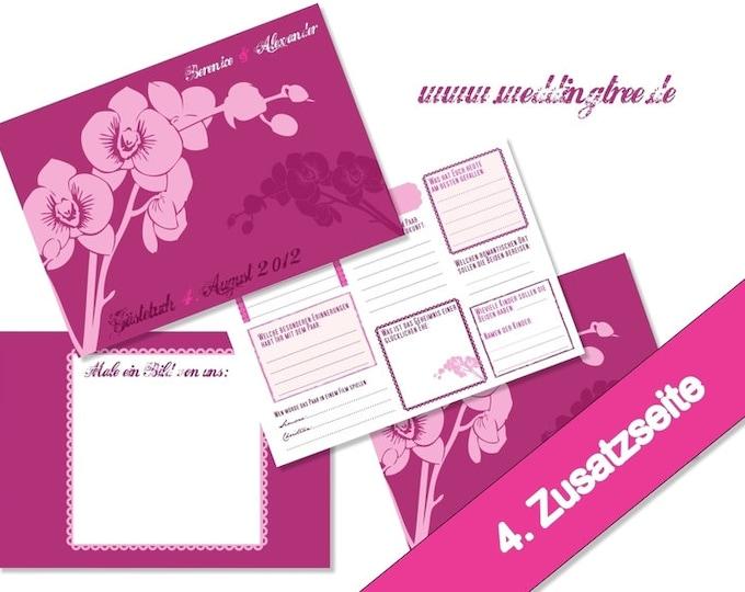 Gästebuch Hochzeit mit Gästefragen (PDF)