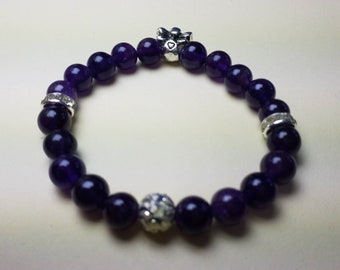 Guardian Angel - bracelet of amethyst with angel charm
