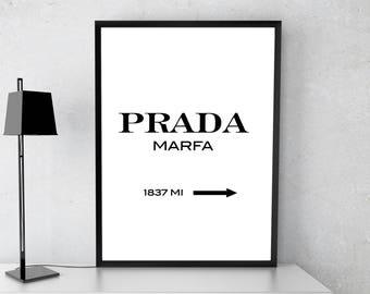 Prada poster, Prada Marfa print, Modern print, Fashion print, Fashion poster, Prada Marfa wall art, Gift poster, Prada wall decor