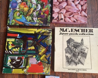 Vintage Lot of Jigsaw Puzzles Springbok M.C. Escher