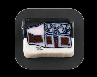 Moe's Tavern Glass Murrine Boro Murrina Cabochon - 69O