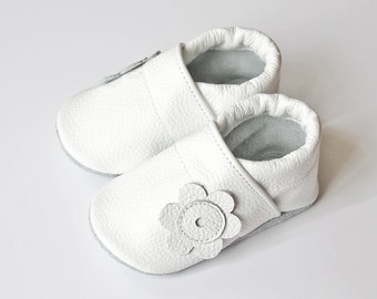Leather Baby Shoes, Baby Shoes, Infant Newborn Nursery Children White