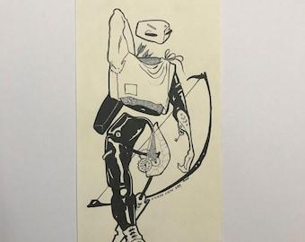 The Mercenary Original Drawing