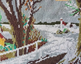 Landscape gobelin tapestry embroidery embroidery