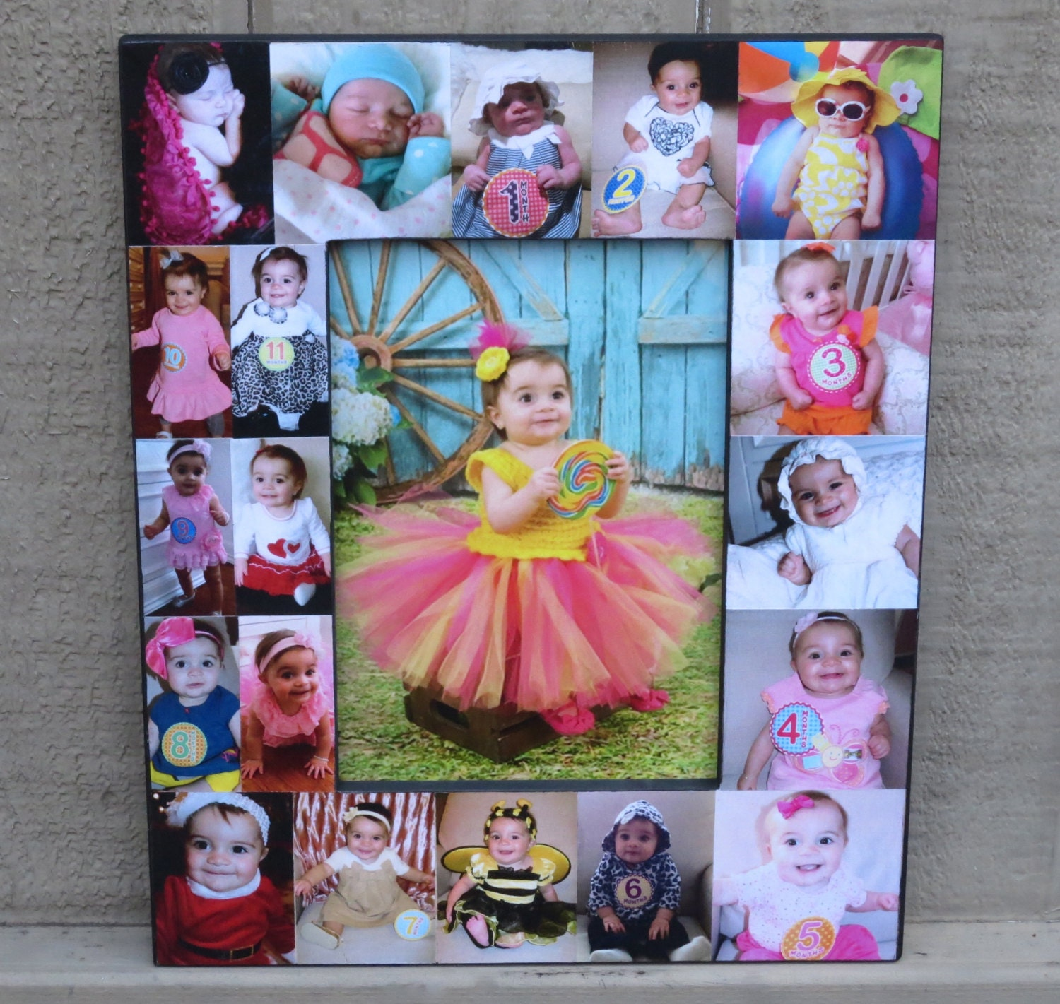 Baby Photo Collage Frame Baby\'s First Year Frame