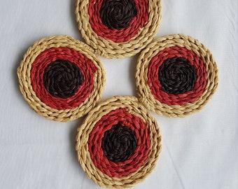 Autumn Raffia Coasters