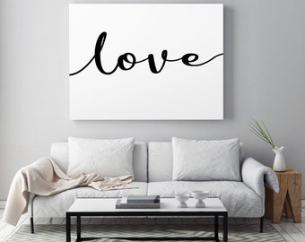 Large Love Canvas, Custom Love Print, Large Format Home Decor, Love Sign