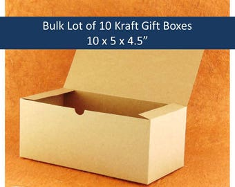 Kraft Wine Glass Gift Box, Bulk Lot of 10 Kraft Gift Boxes for Champagne Flutes Bulk Lot of 10 Boho Gift Boxes 10 x 5 10x Rustic Favor Boxes