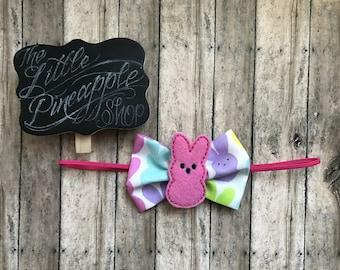Marshmallow bunny easter headband