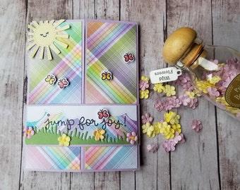 Jump For Joy! Springtime Gatefold Handmade Card