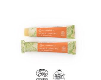 Tangerine organic lip balm