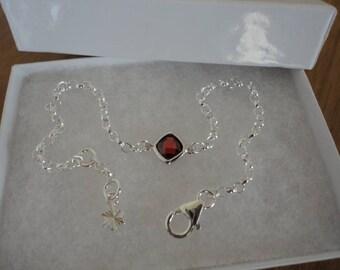 Red square sparkle bracelet
