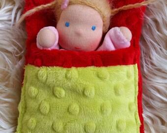 Tiny waldorf doll. Baby waldorf doll - 16 cm/6.30 inch