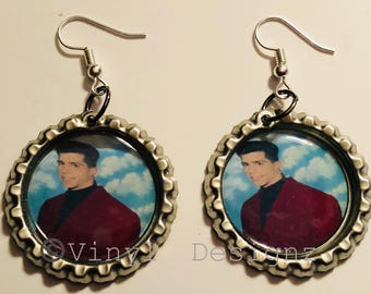 New Kids On The Block, Danny  NKOTB, Bottle Cap Earrings