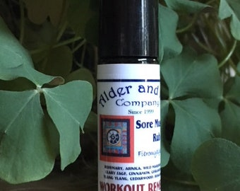 """1/3 ounce """"Workout Remedy"""" Therapeutic Essential Oil Roll-on"""