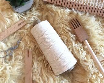 200g/833m Australian Cotton natural colour Warp thread/string