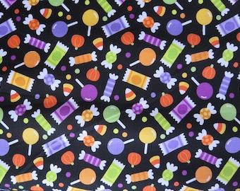 Riley Blake Halloween Candy Black Fabric