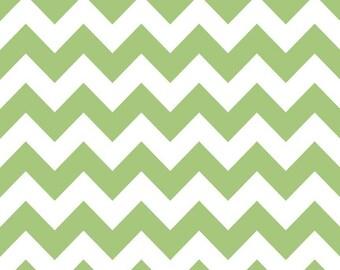 CLOSEOUT SALE Green Medium Chevron by Riley Blake 1 Yard