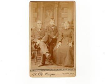 Interesting family, antique cdv photo