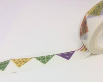 Bunting Washi Tape 15mm x 5m