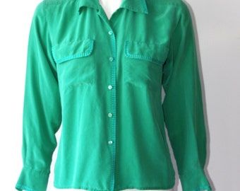 Vintage Cleo Long Sleeve Button Up Blouse Size S