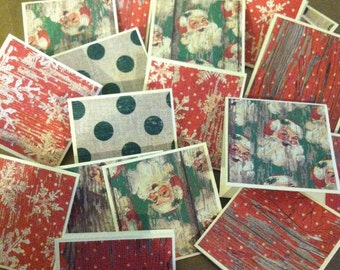 Ho Ho Merry Christmas  Note Cards / Gift Tags / Place Cards Set Of 20