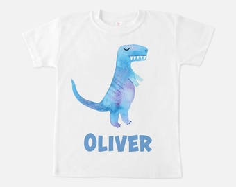 Dinosaur Personalized Toddler T Shirt, 2T, 3T, 4T or 5T. Custom T-Rex Name Shirt, Dino Name T Shirt for Toddler and Kids