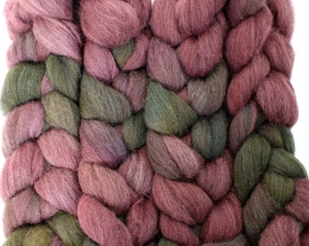 4oz BFL Mixed Blue Faced Leicester 'Heather' Combed Top Roving Dyed Wool Spinning Fiber Indie
