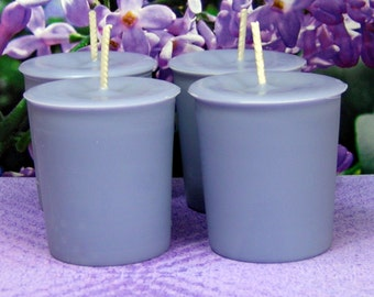 Lilac Votive Candles PURE SOY (Set of 4)