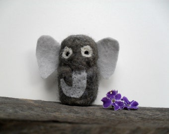 Catnip Cat toy Elephant needle felted