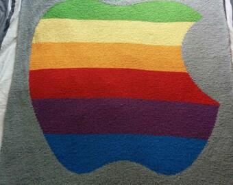 Knit Apple Blanket Pattern