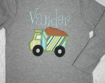 Dump Truck Tee Personalized