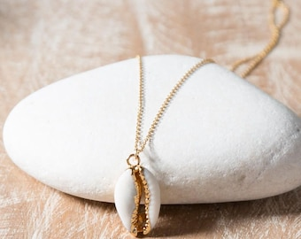 Shell pendant etsy cowrie shell necklaceshell pendant necklacegold cowrie shell necklaceshell necklaceseashell necklace aloadofball Gallery