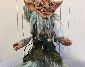 "Smeagol Gollum House Elf ""The Hobbit"" OOAK marionette puppet"