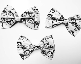 Storm Trooper Bow - Star Wars Bow, Storm Trooper Bow, Geeky Hair Bow, Geeky Bow Tie, Storm Trooper, Star Wars Gift, Dark Side Gift, Cosplay