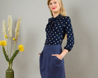 """Skirt""""Berlin Calling"""", in  middle blue"""