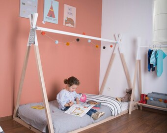 Teepee (Tipi) Kids and Toddler Bed