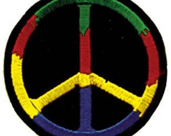 PEACE SIGNS LARGE, Officially Licensed, Iron-On / Sew-On, Embroidered  Patch