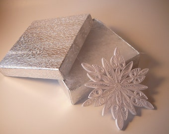 DIY Paper Quilled Snowflake Ornament Digital Tutorial Pattern