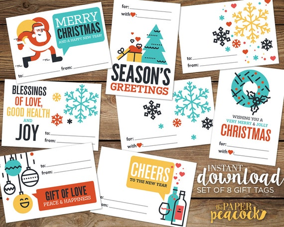 8 christmas gift tags instant download modern quote print 8 christmas gift tags instant download modern quote print holiday stickers avery label templates 2 13 x 3 38 from paperpeacocktoledo on saigontimesfo