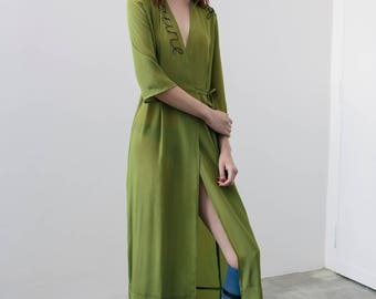 Silk dress with Embroidery