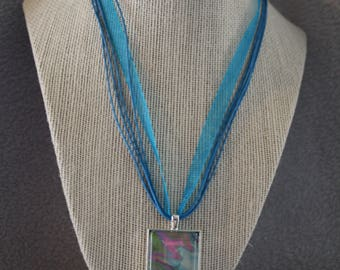 MULTICOLORED RECTANGLE NECKLACE
