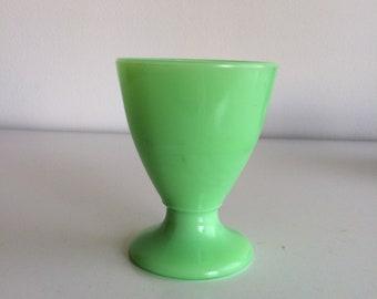 Vintage McKee Jadeite Green Glass Pedestal Dessert Tumbler