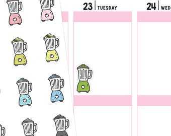 Blender Planner Stickers, Cooking Stickers, Smoothie Stickers, Fitness Stickers