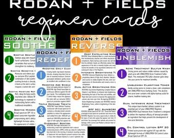 Rodan + Fields Regimen Info Cards