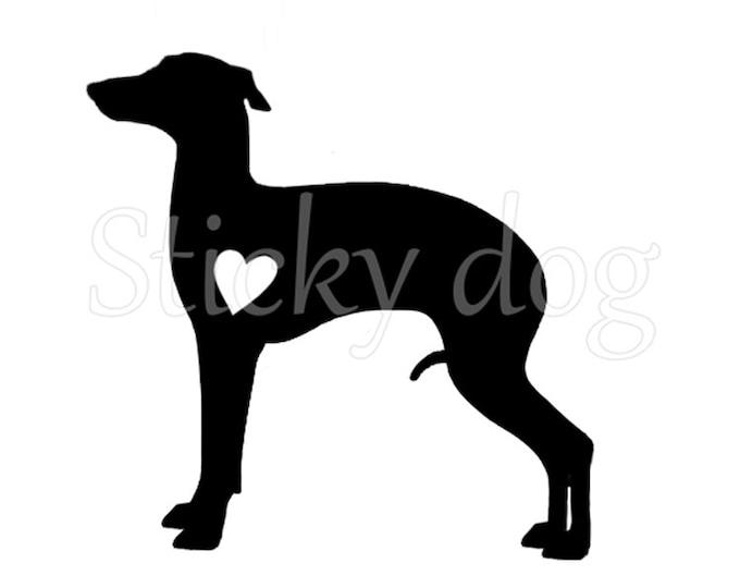 Italian greyhound/ sighthound renaissance patron sticker