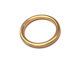 Handcrafted 2mm Full Round Wedding Band - Stack Ring - 22k Gold