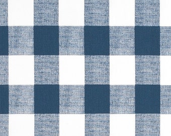Navy Check Valance. Navy and white  Check.  Window treatment. Checkered Country curtains.  Choose  your sizes